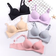 Women Push Up Bra Solid Color Lingerie Seamless Bra Sexy Deep U Cup Bras Wire Free Bralette Female Underwear seamless wire free bra lingerie adjustable bra straps push up bra sweet color breathable sexy lingerie bras underwear women d