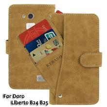 Vintage Leather Wallet Doro Liberto 824 825 5 Case Flip Luxury Card Slots Cover Magnet Stand Phone Protective Bags vintage leather wallet echo dune 5 case flip luxury card slots cover magnet stand phone protective bags