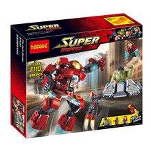 цена на Marvel Super Heroes Avengers Building Block Compatible With Legoe Ultron Figures Iron Man Hulk Buster Bricks Toys For Children