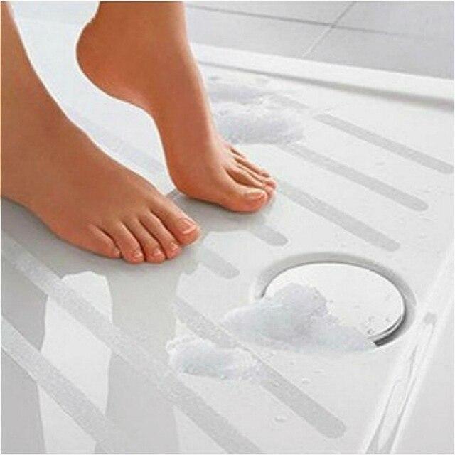 6pc Portable Anti Slip Bath Grip Stickers Non Slip Shower Strips Pad Flooring Safety Tape Mat Applique Stickers Bath Tub Shower
