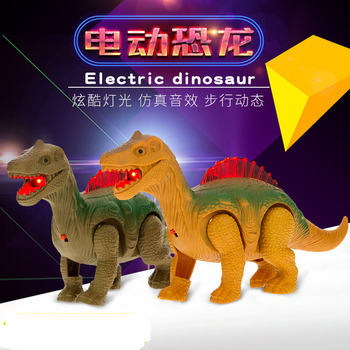 Electric Walking Dinosaurs Light Sound Toys Animals Model For Kids Children mighty electric walking with sound dinosaur toys animals model toys for kids