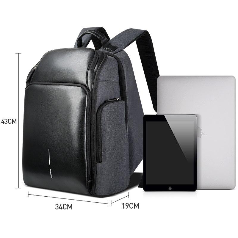 Купить с кэшбэком BOPAI Travel Backpack for Men Large Capacity Plecak USB Charging Notebook Backpack 15.6 Inch Male Functional Waterproof Bagpack