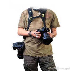 Image 2 - שחור חדש באיכות גבוהה מקצועי מהיר כתף זוגית מצלמה קלע חגורה רצועה עבור DSLR SLR המצלמה Canon Nikon Sony