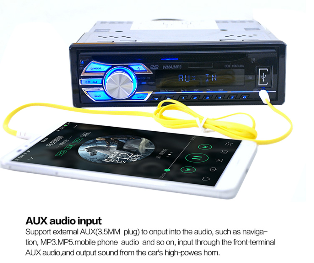 Big Power Car Interior Electronics Radio CD Player LCD Display MP3 Music Player FM Radio Support CD USB SD DVD Mp3 Player