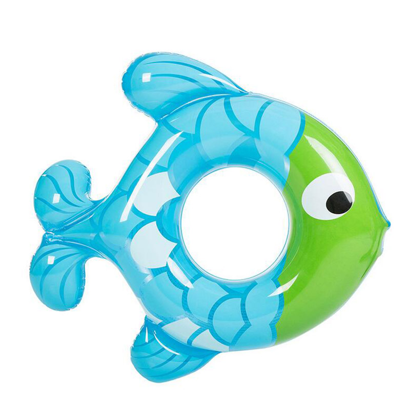 Inflatable Lap Swimming Pool Baby Swim Float Rubber Ring Fish Shape Baby Swimming Circle Kids Swimming Pool Safety Child Toys