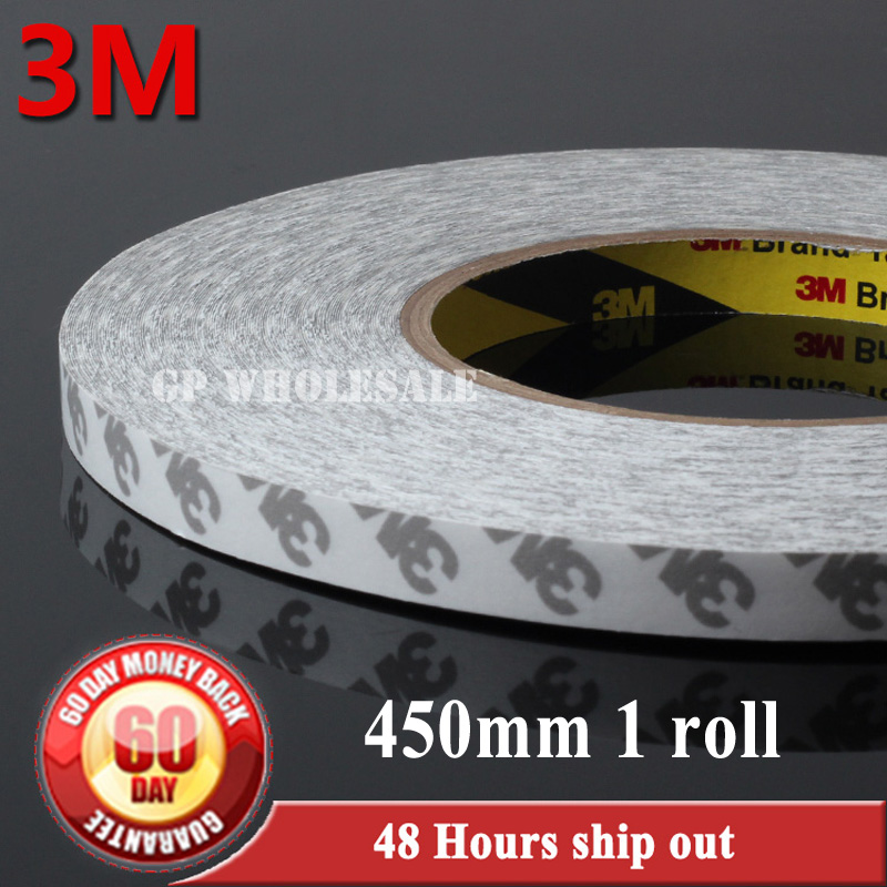 1x (45cm) 450mm width*50 meters Original 3M 9080 Double Sided Tape Adhesive for LCD LED Strip high temperature 6mm 50 meters 3m 9080 double sided adhesive tape for phonetablet screen dispaly led strip adhesive common using