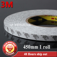 1x (45cm) 450mm width*50 meters Original 3M 9080 Double Sided Tape Adhesive for LCD LED Strip high temperature