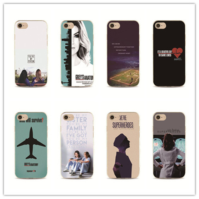 American TV Greys Anatomy phone case for iPhone 7 plus 4 4s 5 5s 5c ...