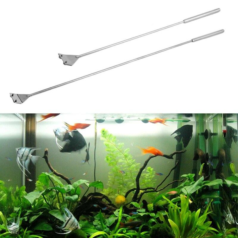 En Acier inoxydable Aquarium Fish Tank Algues Grattoir à Lame Lame Aquarium Fish Tank Algues Coralliennes Lame Racleuse Cleaner Outil Kit