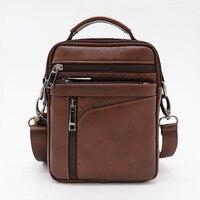 Brand Genuine Cow Leather Small Casual Bussiness Bag Men S Handbag Crossbody Shoulder Bags Messenger Bag