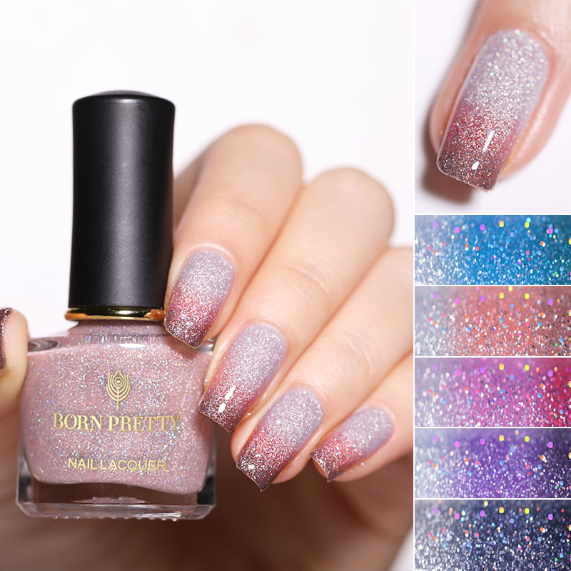 Nail Polish Layers: BORN PRETTY 6ml 3 Layers Thermal Nail Polish Color
