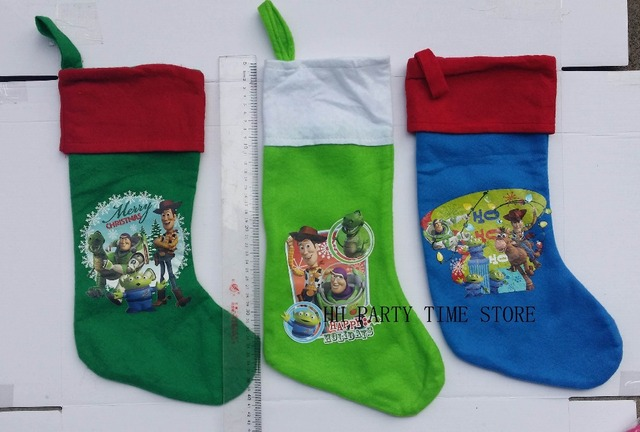 free shipping41cmthree colors toy story buzz children cartoon movie christmas stockings sock - Toy Story Christmas Movie