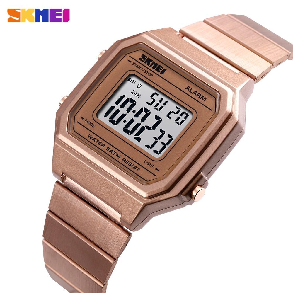 Skmei Neue Mode Männer Digitale Uhren Luxus Sport Chronograph Wasserdichte Männliche Uhr Edelstahl Armbanduhr Relogio Feminino Angenehm Zu Schmecken Herrenuhren Uhren