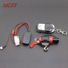 Tração do guincho do metal de controle remoto como acessórios para 1/10 rc rock crawler carro traxxas hsp redcat hpi 90046 d90 scx10 TRX 4