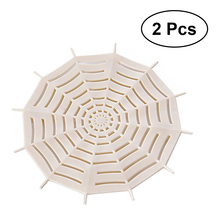 2pcs Sink Strainer Anti-blocking Spider Web Shaped Sewer Drain Net Garbage Filter Mesh for Bathroom Kitchen