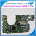 Madre original del ordenador portátil para asus s400ca rev3.1 i7-3517u 90nb0050-r0b000 ddr3 4 gb tarjeta usb3.0 placa base totalmente probado