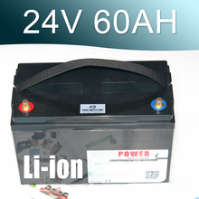 24V 60AH Lithium ion Battery 25.9V Li-ion Waterproof IP68 Box for UPS  Solar energy Golf Car