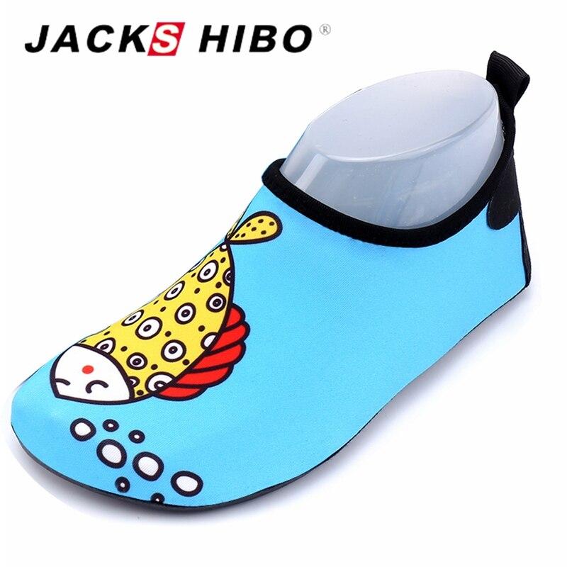 3feeb884c3 JACKSHIBO niños zapatos de agua transpirable de secado rápido Bl zapatos  agua descalzo calzado piscina del bebé zapato