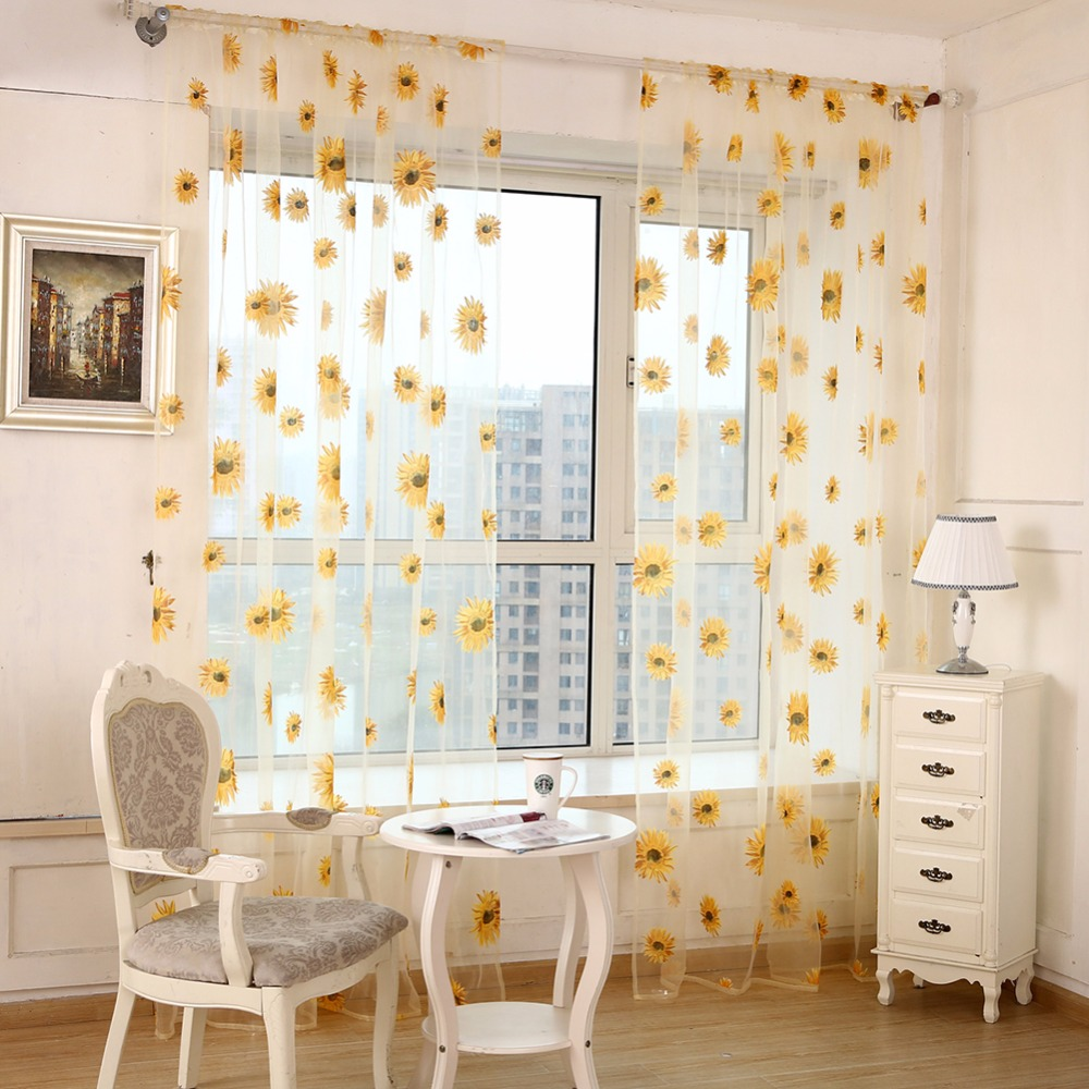 New Sunflower Window Kitchen Bathroom Curtain Door Divider Sheer Panel  Drapes Scarf Curtain  236283. Popular Curtains Bathroom Window Buy Cheap Curtains Bathroom