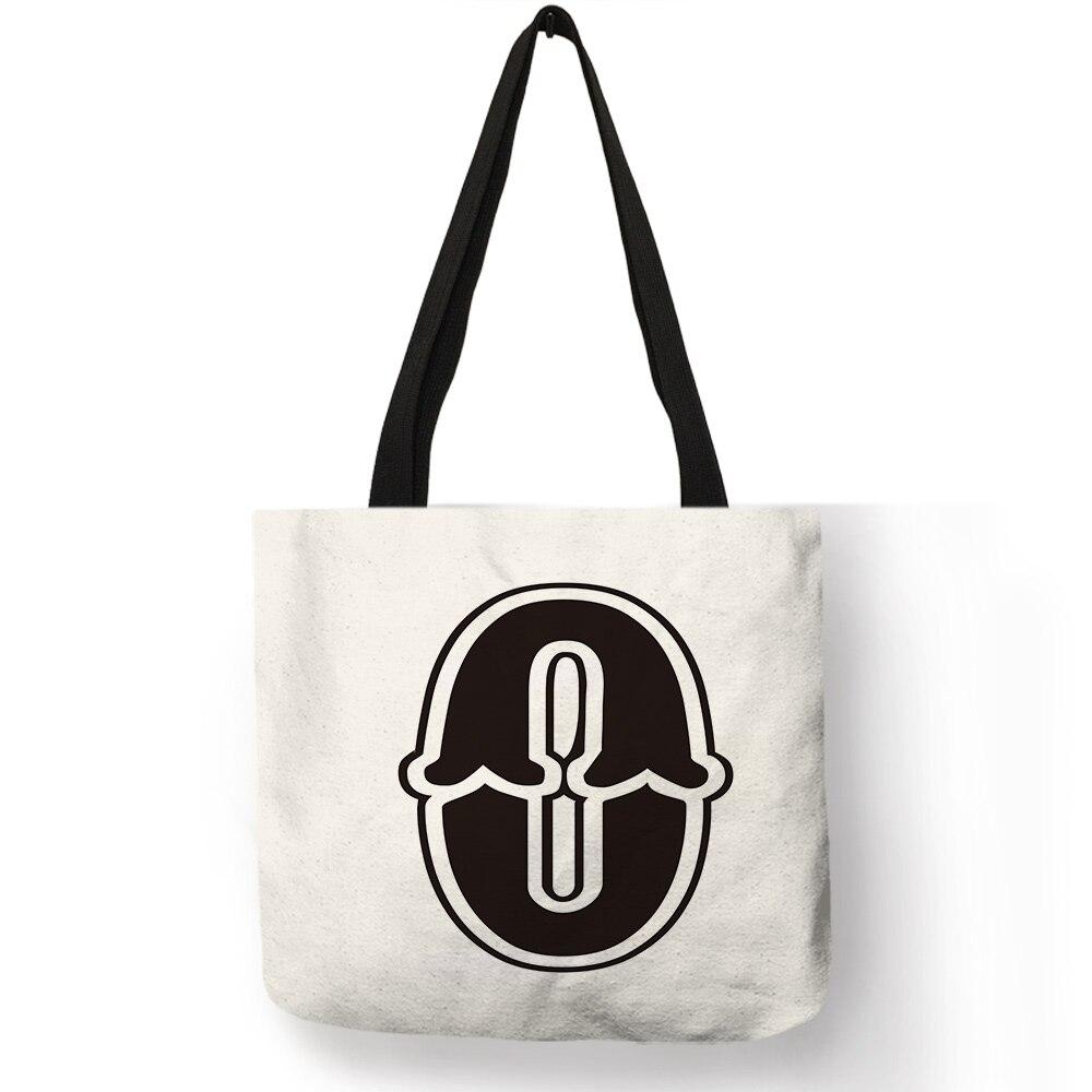Big ABC Letters Print Messenger Shoulder HandBags Crossbody Women/'s Bag Black