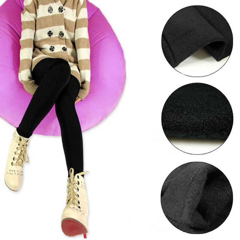 Hot Sale Winter Autumn Warm Thick   Legging   Stretchy Footless Pants F05