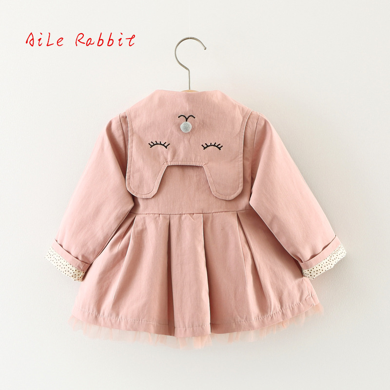 1-3yrs Spring fall Baby Coat Outwear Kids Outerwear Clothes Infant Girl Hooded Cardigan   Trench   Coat Children Windbreaker Jacket
