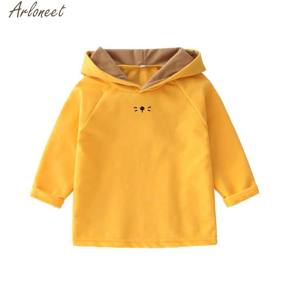 ARLONEET Baby Peuter Jongens Meisjes Outfits Cartoon Konijn Oren Kds Hoody Sweatshirt Baby Boy Hoodies En Sweatshirts Voor Meisje