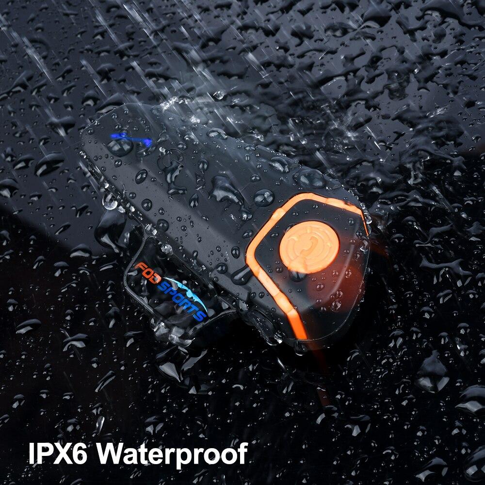 Fodsports BT-S2 Pro interkom w kasku motocyklowym motocykl bezprzewodowy zestaw słuchawkowy bluetooth wodoodporny BT Interphone z FM