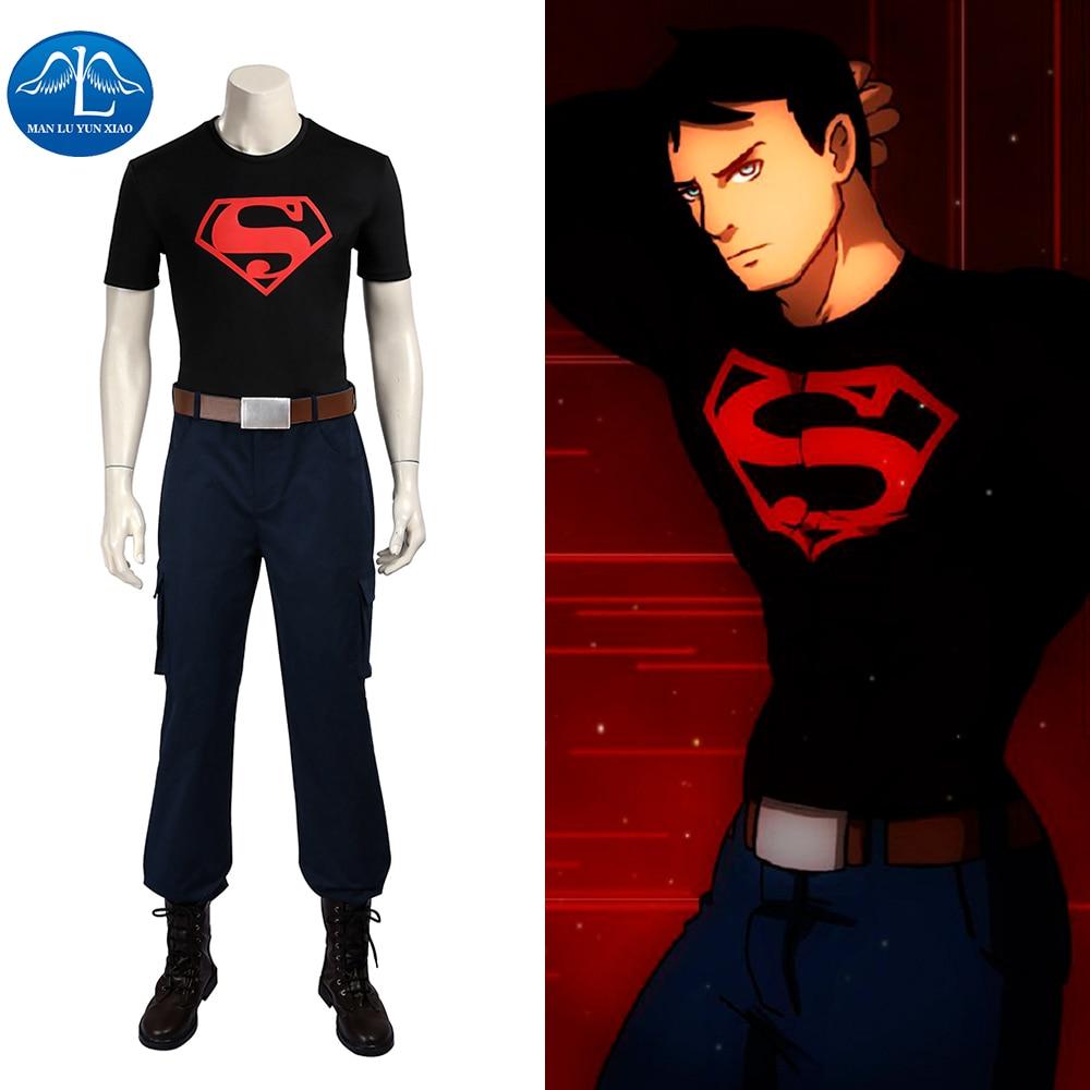 ae00a441ff57 MANLUYUNXIAO Mladý spravedlnost Cosplay kostým Superboy Cosplay kostým  Karneval Halloween kostýmy pro dospě.