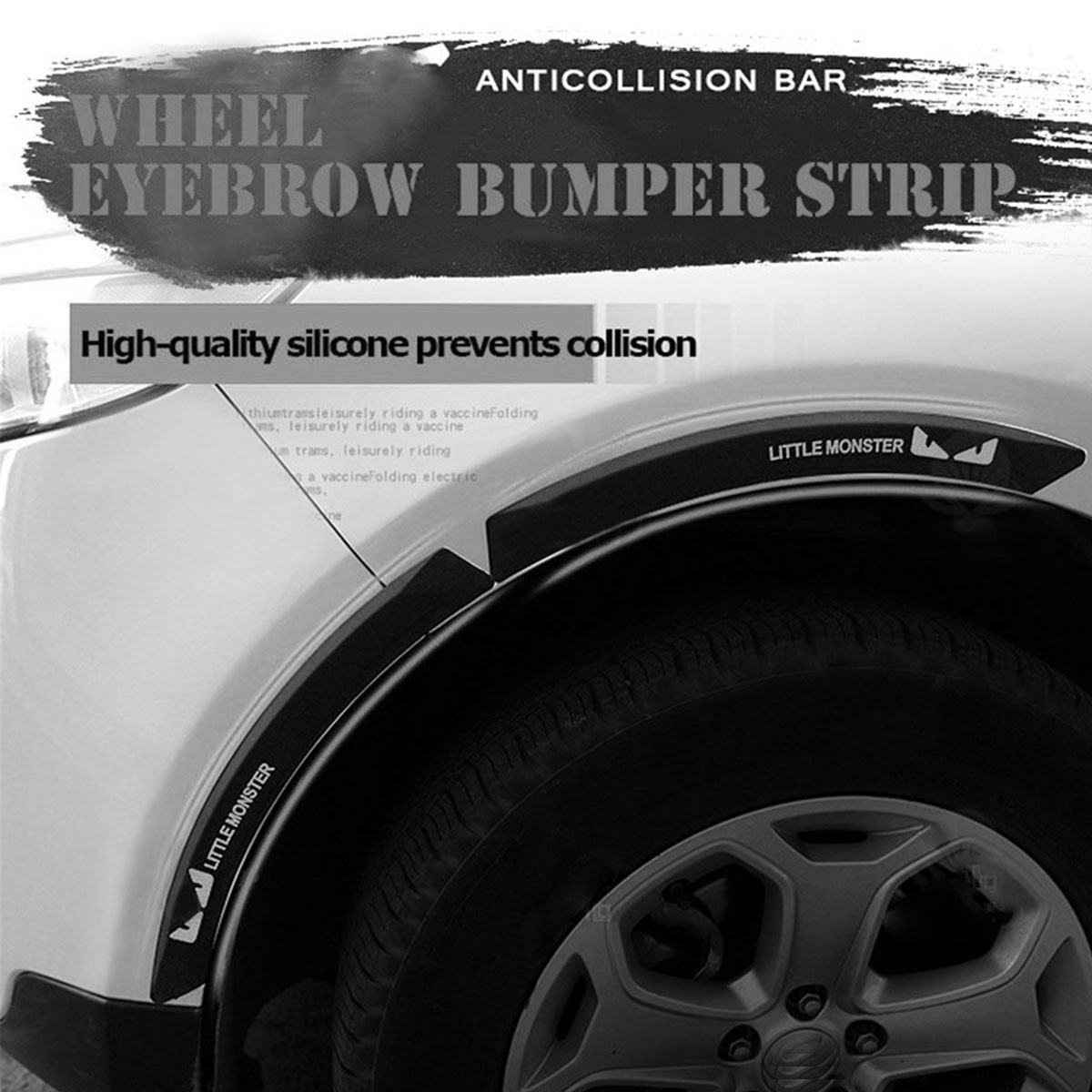 Universal Car Styling Anti Collision Fender Flares Edge Guard Rubber Bumper Protection Sticker Mouldings Decorative Strip 1 Pair in Styling Mouldings from Automobiles Motorcycles