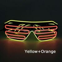 Vendite calde Di Natale Decor Flessibile Blink Neon Striscia del Led Shutter Glasses Novità Luce EL wire Occhiali per Halloween, Pasqua giorno