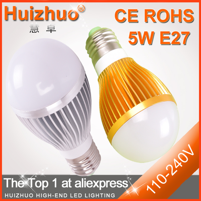 [Huizhuo Lighting] 5W 7W E27 450lm LED bulb lamp/cheap e27 led in promotion guaranteed 3 years+free shipping