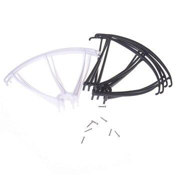 Ajuste para Syma X5 X5C X5C-1 X5SC X5SW RC Quadcopter helicóptero piezas de repuesto protectores marco Rotor Blade Protection + 4 Uds tornillos