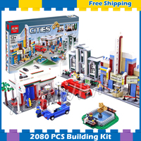 2080pcs City Town Plan 50th Anniversary Edition Collection 02022 Model Building Blocks Children Gifts sets Compatible With Lego