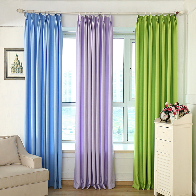 Modern Solid Color Blackout Curtains For Living Room