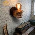 Старинные Классические Смолы Кулак Бра Коридор Огни Гостиная Спальня Освещение 85 В-265 В с Ретро E27 эдисон лампы Держатель