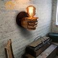 Vintage Classical Resin Fist Wall Lamps Corridor Lights Living Room Bedroom Lighting 85V-265V with Retro E27 Edison bulb Holder