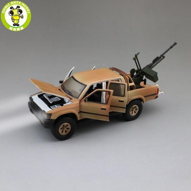 1/32 Jackiekim Hilux להרים משאית עם אנטי טנק אקדח Diecast מתכת דגם רכב צעצועי ילדים ילדי קול תאורה מתנות
