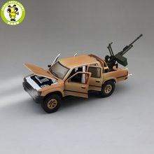 1/32 Jackiekim Hilux Pick up Truck with Anti tank Gun Diecast Metal Model CAR Toys kids children Sound Lighting gifts