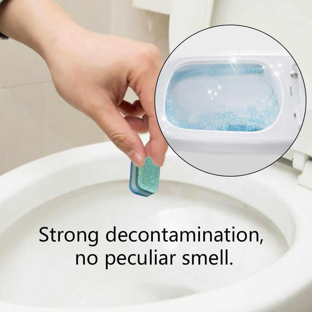 2018 nowy 1 sztuk automatyczne wybielacz toaleta miska miska zbiornik do czyszczenia niebieskie tabletki równo do czyszczenia