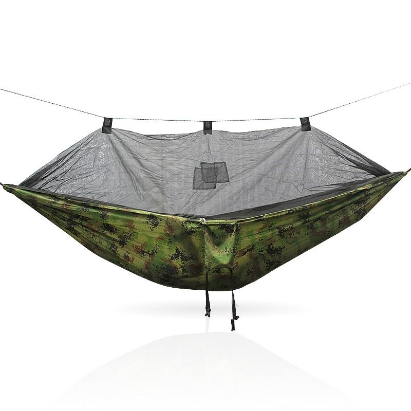 Double personne voyage en plein air Camping tente suspendu hamac lit et moustiquaire CamouflageDouble personne voyage en plein air Camping tente suspendu hamac lit et moustiquaire Camouflage