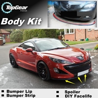 Bumper Lip Deflector Lips For Peugeot RCZ 2009~2015 Front Spoiler Skirt For TopGear Friends To Car Tuning View/ Body Kit / Strip
