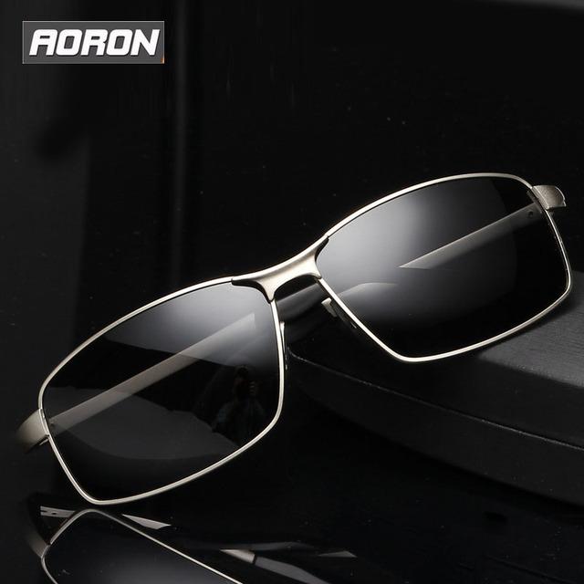 2016 Plaza Polarizado gafas de sol de marco de Metal gafas de sol de diseñador de la marca de Lujo de los hombres de Conducción espejo Gafas Gafas de sol UV400