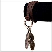 Biżuteria w stylu vintage Zwierząt Charm Naszyjnik Z Piór Eagle Claw Skórzane Liny Łańcucha Naszyjnik Biżuteria