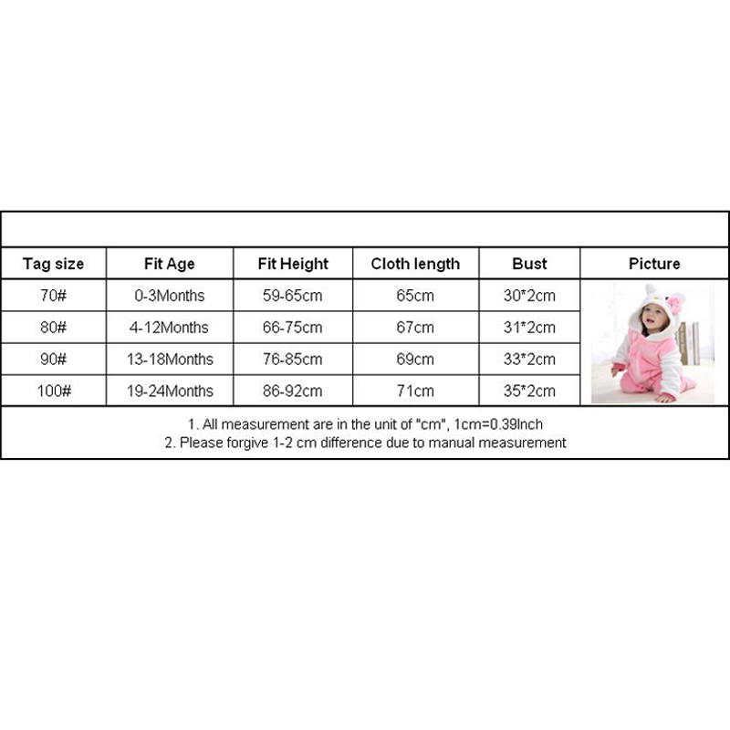 Baby rompers new born baby girls clothes Hooded pajamas mameluco bebe warm winter animal costumes roupas Baby rompers new born baby girls clothes Hooded pajamas mameluco bebe warm winter animal costumes roupas de bebe dropshipping