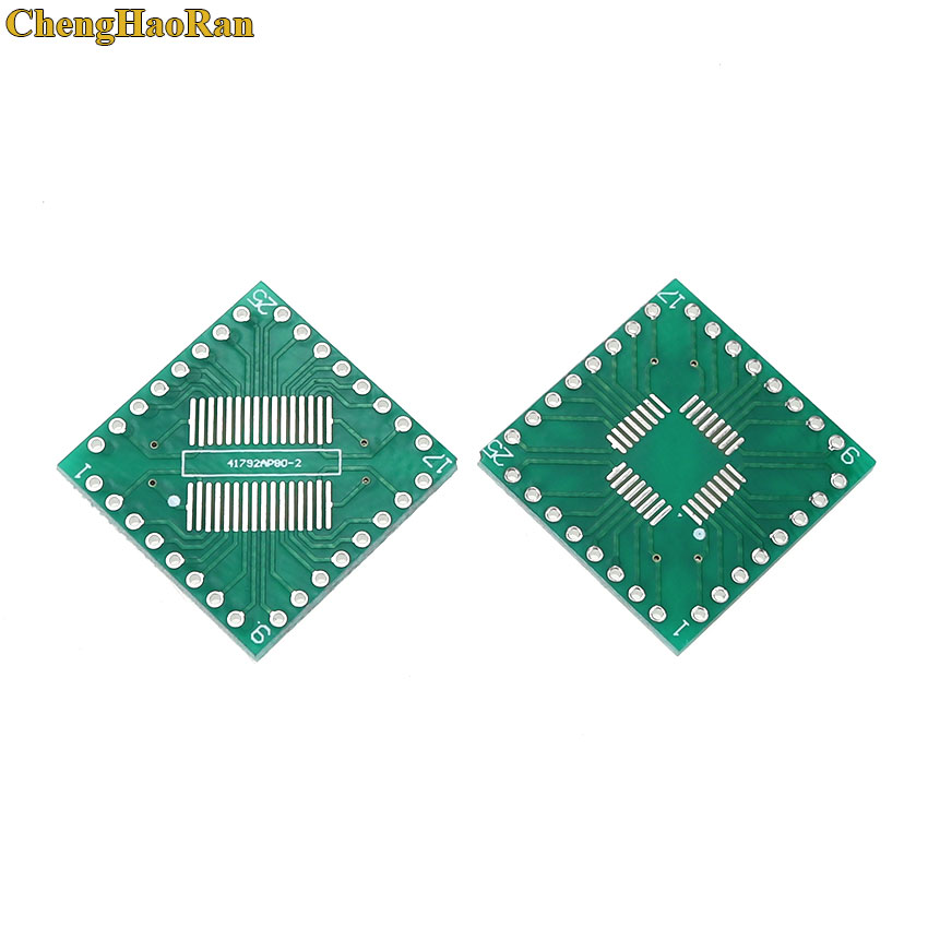 ChengHaoRan 5pcs Adapter PCB SOP32 SSOP32 QFP32 TQFP32 LQFP32 FQFP32 TO DIP 32 Transfer Board 0.8mm Pitch IC Adapter Socket