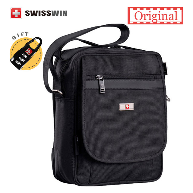 Swiss Brand Messenger Bag Men Water Resistant Satchel School Military Crossbody Shoulder Boy