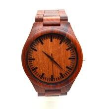 Relojes хомбре 2016 мужские красный сандаловое дерево часы роскошь бамбук деревянные часы японский 2035 miyota движение кварцевые часы