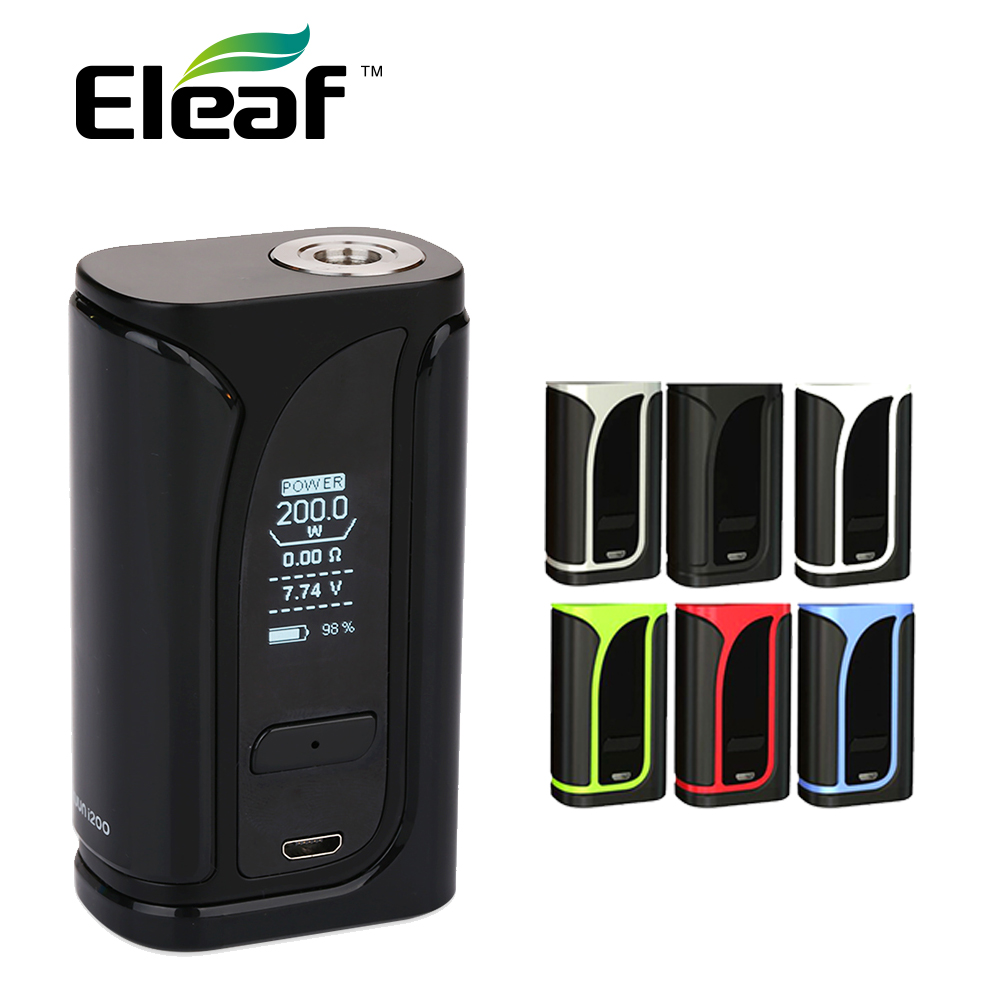 Original 200W Eleaf IKuun I200 TC Box MOD 4600mAh Battery Mod Vape IKuun I200 Mod Work with Melo 4 Tank/EC2 Coils E Cig Mod boruit b10 xm l2 led headlamp 3 mode 3800lm headlight micro usb rechargeable head torch camping hunting waterproof frontal lamp