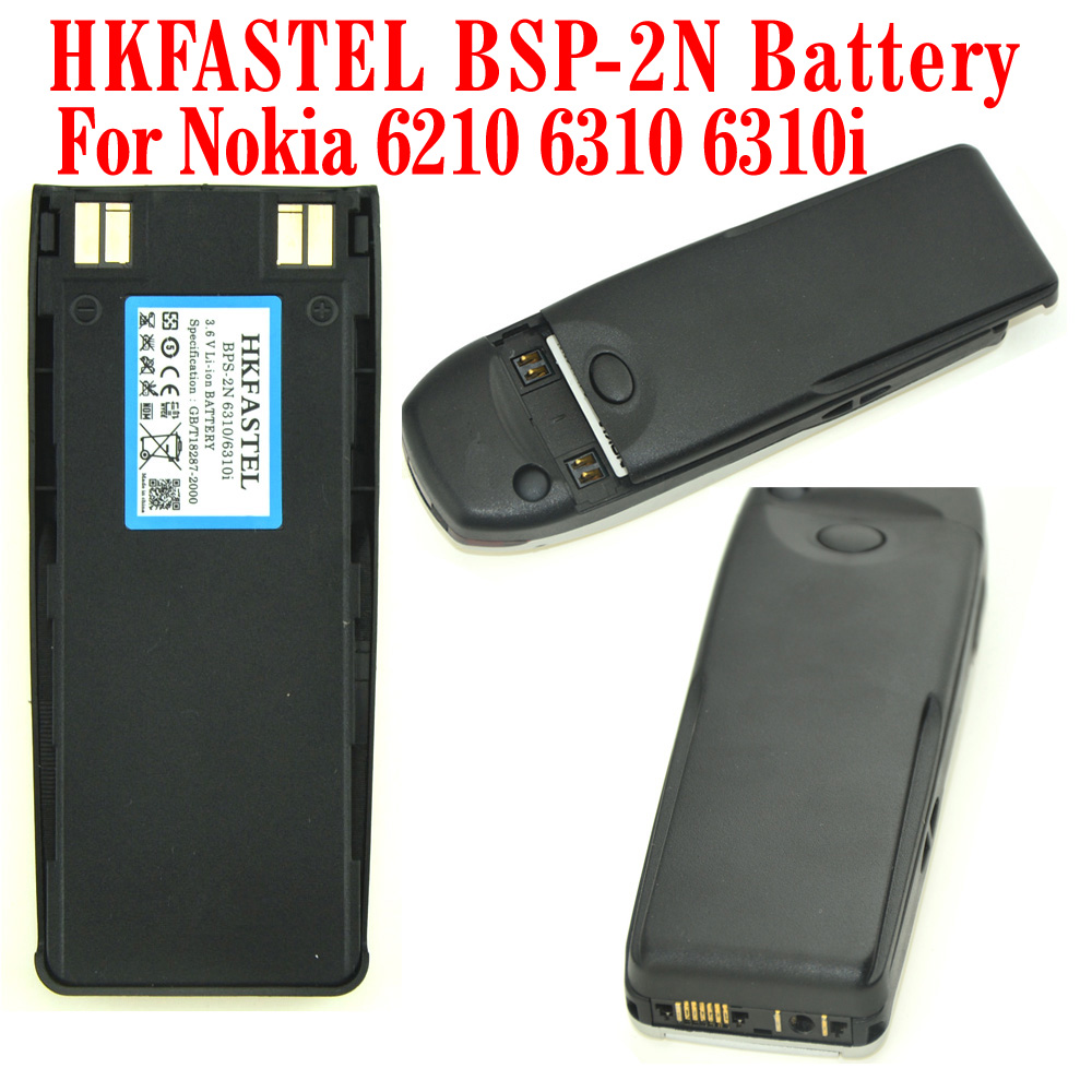 HKFASTEL New BPS-2 Li-ion Mobile Phone Battery For <font><b>Nokia</b></font> 1260 5120 5180 5110 6110 6120 6138 6150 6160 6180 6185 6210 <font><b>6310</b></font> 6310i image